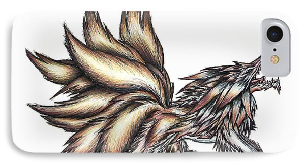 Nine Tails Wolf Demon IPhone Case by Shawn Dall
