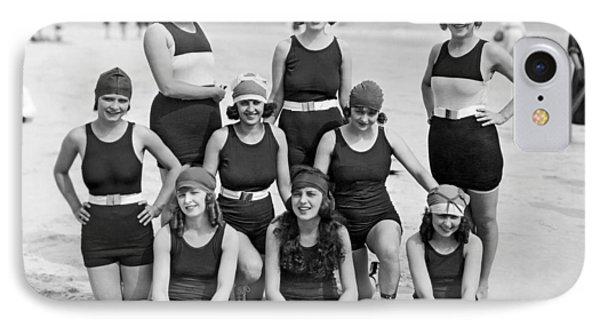Nine Women In Bathing Suits IPhone Case by Underwood Archives