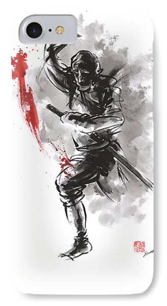 Ninja - Dark Warrior IPhone Case by Mariusz Szmerdt