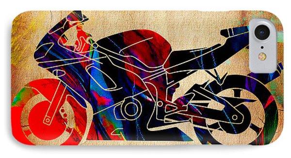 Ninja Motorcycle Art IPhone Case by Marvin Blaine