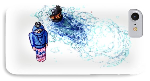 Ninja Stealth Disappears Into Bubble Bath Phone Case by Del Gaizo