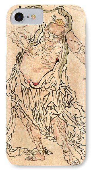 Niozo Ungyo, Buddhist Gate Guardian Ungyo IPhone Case by Japanese School