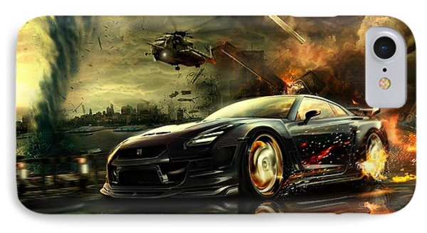 Nissan G T R IPhone Case by Movie Poster Prints
