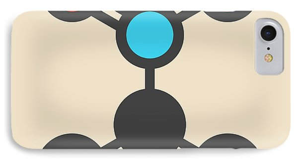 Nitropropane Molecule IPhone Case by Molekuul