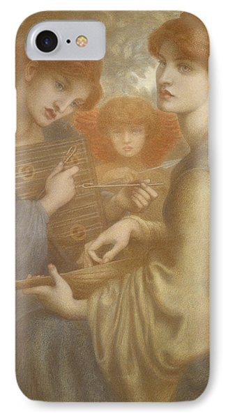 No. 1011 Study For The Bower Meadow IPhone Case by Dante Gabriel Charles Rossetti