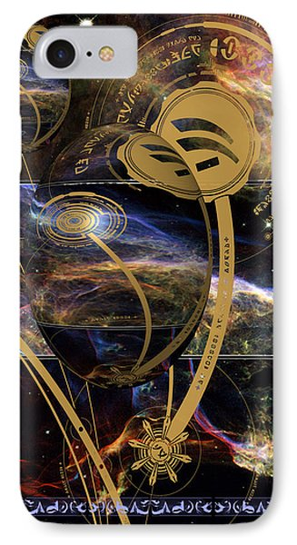 IPhone Case featuring the photograph No. 3 Alien Greeting Card by Robert Kernodle