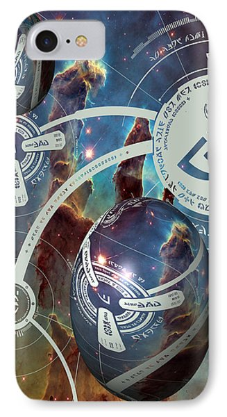 IPhone Case featuring the photograph No. 4 Alien Greeting Card by Robert Kernodle