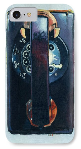 IPhone Case featuring the painting No Answer by Katherine Miller
