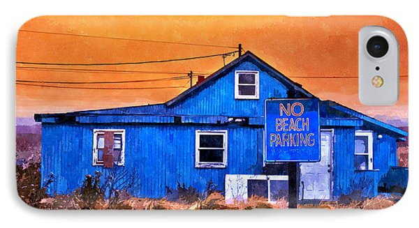 No Beach Parking IPhone Case by Rick Mosher