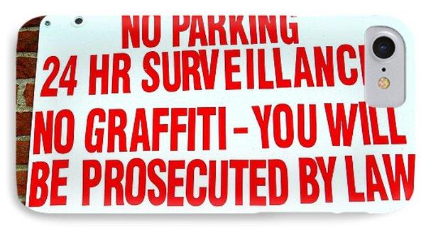 No Graffiti Phone Case by Ed Weidman