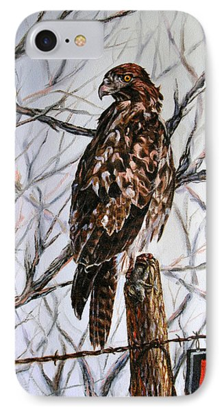 IPhone Case featuring the painting No Hunting by Craig T Burgwardt
