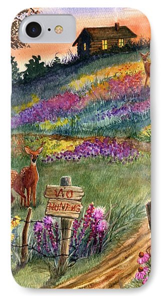 No Hunting IPhone Case by Marilyn Smith