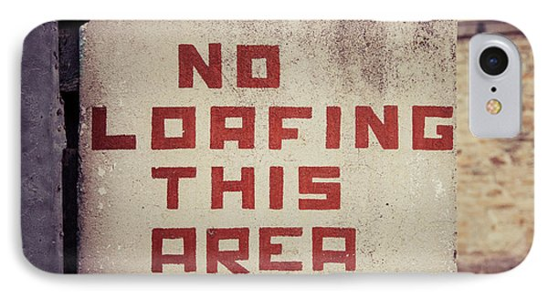 No Loafing IPhone Case by Takeshi Okada