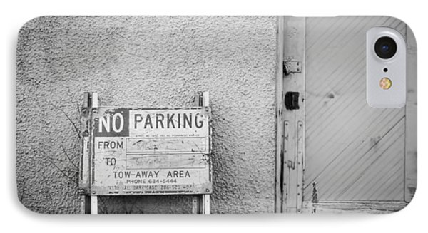 No Parking IPhone Case by John Rossman