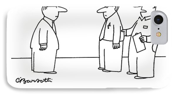No, Sir, They Don't Come With The Cubicle - IPhone Case by Charles Barsotti