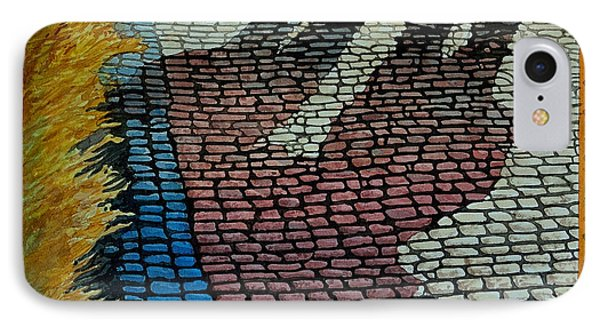No Striping On Colored Cobblestone Parking Of Praque IPhone Case