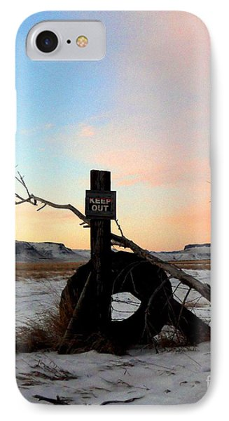 No Trespassing Phone Case by Desiree Paquette