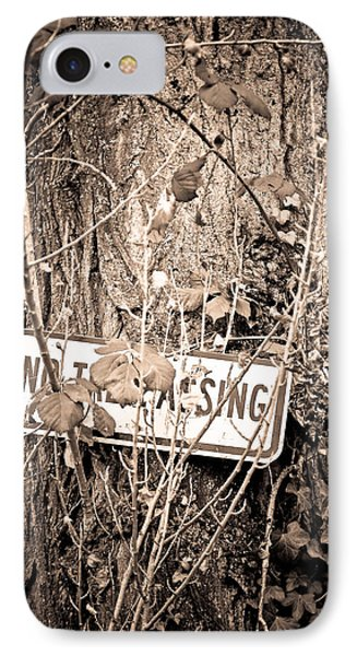 IPhone Case featuring the photograph No Trespassing by Erin Kohlenberg