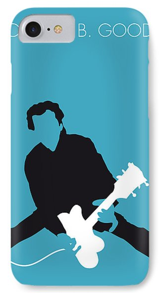 No015 My Chuck Berry Minimal Music Poster IPhone Case by Chungkong Art
