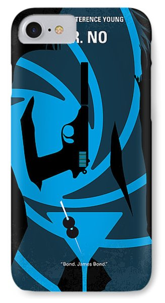 No024 My Dr No James Bond Minimal Movie Poster IPhone Case