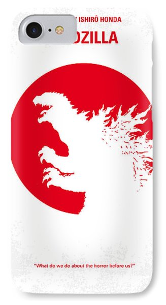 No029-2 My Godzilla 1954 Minimal Movie Poster.jpg IPhone Case
