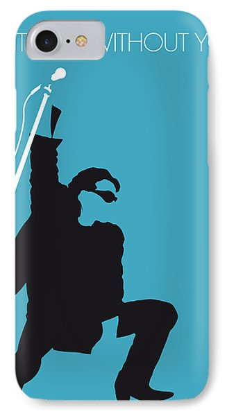 Musicians iPhone 7 Case - No035 My U2 Minimal Music Poster by Chungkong Art