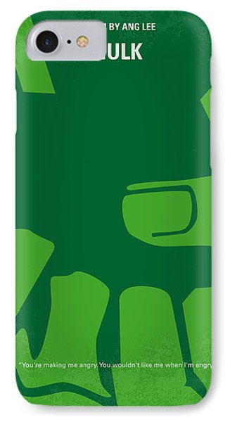 No040 My Hulk Minimal Movie Poster Phone Case by Chungkong Art