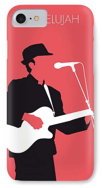 No042 My Leonard Cohen Minimal Music IPhone Case by Chungkong Art