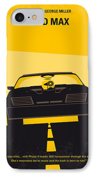No051 My Mad Max Minimal Movie Poster IPhone Case by Chungkong Art