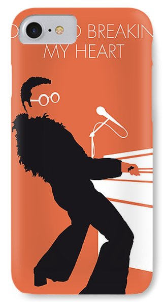 No053 My Elton John Minimal Music Poster IPhone Case by Chungkong Art