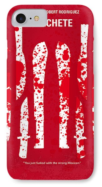No114 My Machete Minimal Movie Poster IPhone Case by Chungkong Art
