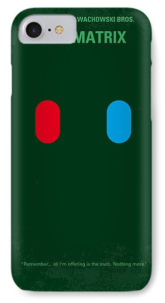 No117 My Matrix Minimal Movie Poster Phone Case by Chungkong Art