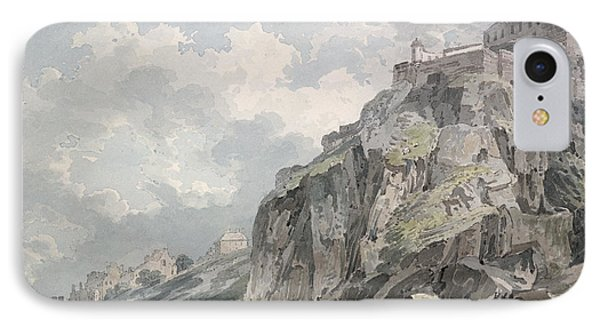 No.1187 The Castle Rock, Edinburgh IPhone Case by Thomas Girtin