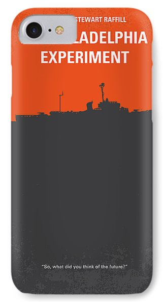 No126 My The Philadelphia Experiment Minimal Movie Poster Phone Case by Chungkong Art