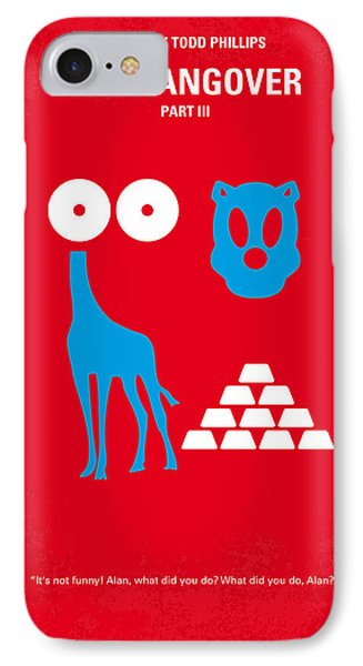 No145 My The Hangover Part 3 Minimal Movie Poster Phone Case by Chungkong Art