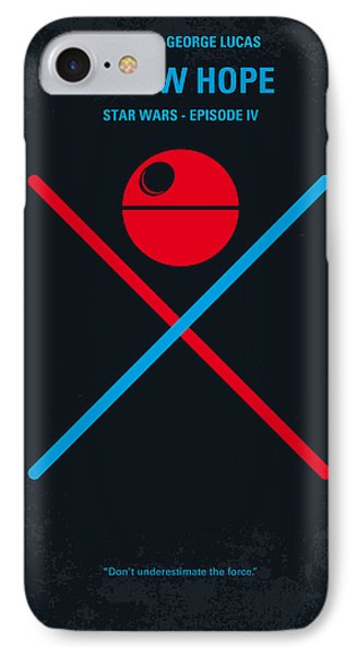 No154 My Star Wars Episode Iv A New Hope Minimal Movie Poster IPhone Case by Chungkong Art