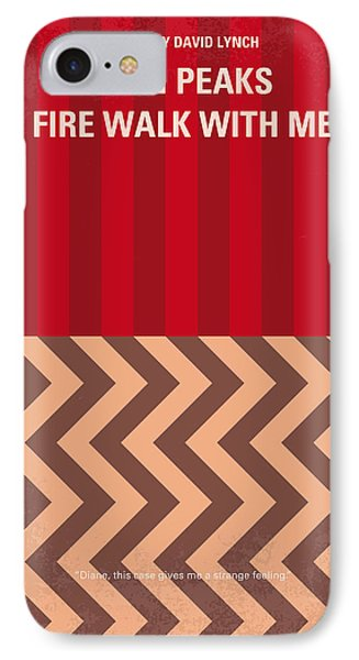 No169 My Fire Walk With Me Minimal Movie Poster IPhone Case