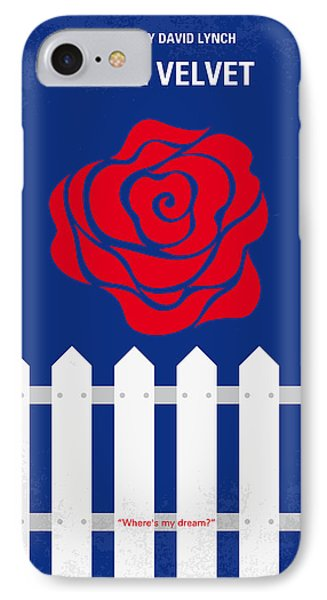 No170 My Blue Velvet Minimal Movie Poster IPhone Case