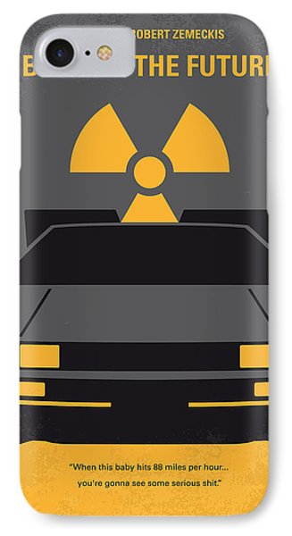 No183 My Back To The Future Minimal Movie Poster IPhone Case