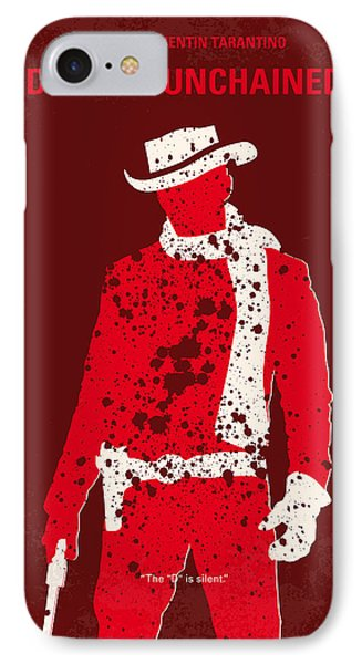 No184 My Django Unchained Minimal Movie Poster IPhone Case