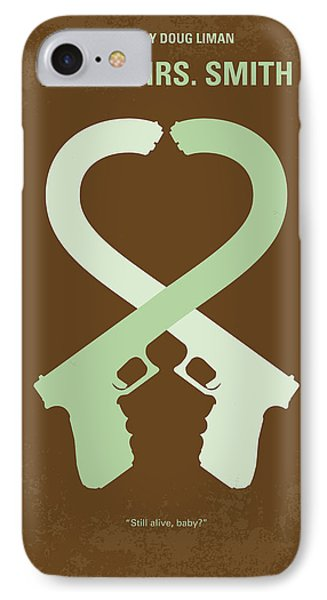 No187 My Mr And Mrs. Smith Minimal Movie Poster IPhone Case