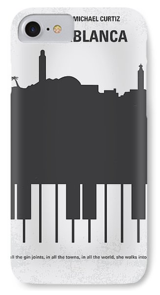 No192 My Casablanca Minimal Movie Poster Phone Case by Chungkong Art
