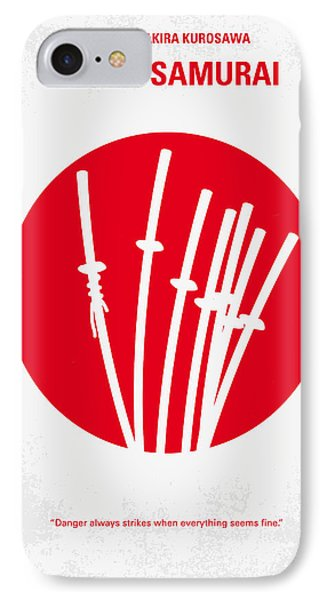 No200 My The Seven Samurai Minimal Movie Poster Phone Case by Chungkong Art