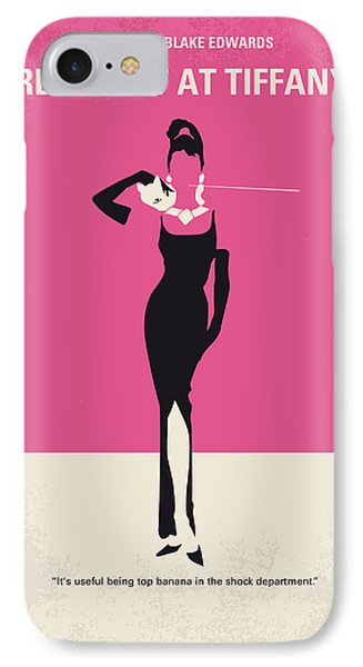 No204 My Breakfast At Tiffanys Minimal Movie Poster IPhone Case by Chungkong Art
