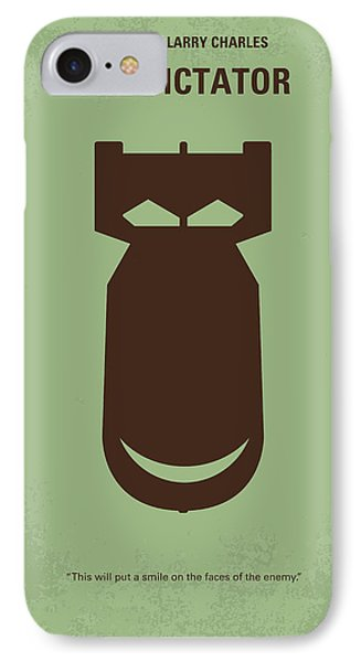 No212 My The Dictator Minimal Movie Poster IPhone Case by Chungkong Art