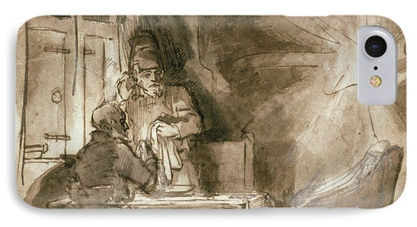 No.2139 Supper At Emmaus, C.1648-9 IPhone Case by Rembrandt Harmensz. van Rijn