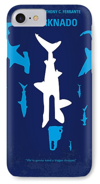 No216 My Sharknado Minimal Movie Poster Phone Case by Chungkong Art
