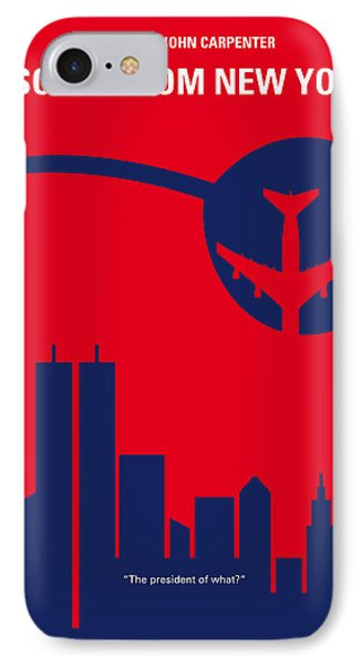 No219 My Escape From New York Minimal Movie Poster IPhone Case by Chungkong Art