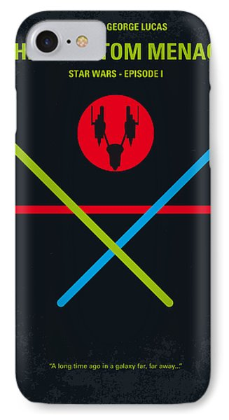 No223 My Star Wars Episode I The Phantom Menace Minimal Movie Poster IPhone Case by Chungkong Art
