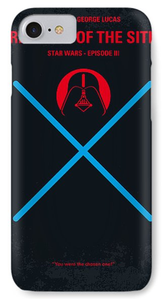 No225 My Star Wars Episode IIi Revenge Of The Sith Minimal Movie Poster IPhone Case by Chungkong Art